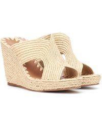 Carrie Forbes - Raffia Wedge Sandals - Lyst