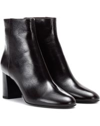 Saint Laurent - Loulou 70 Leather Ankle Boots - Lyst
