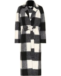 Ganni - Mckenney Checked Coat - Lyst
