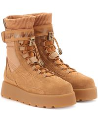 PUMA - Scuba Suede Ankle Boots - Lyst