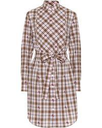 Tendance Burberry - Robe chemise en coton à carreaux - Lyst 908176b8a020