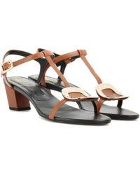 Roger Vivier - Chips Leather Sandals - Lyst