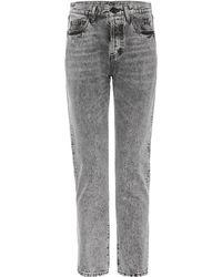 Saint Laurent - High-waisted Slim-fit Jeans - Lyst