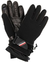 Moncler Grenoble - Leather-trimmed Ski Gloves - Lyst