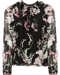 Giambattista Valli - Floral-printed Silk Top - Lyst