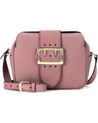 Burberry - The Buckle Leather Shoulder Bag - Lyst