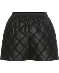 Stella McCartney - Cesira Quilted Faux Leather Shorts - Lyst