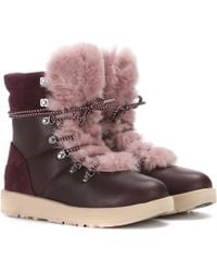 UGG - Viki Wool-lined Leather Ankle Boots - Lyst