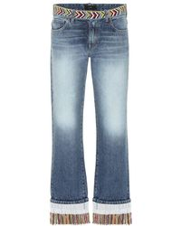 Alanui - Jeans cropped con perline - Lyst