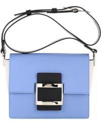 Roger Vivier - Viv Mini Leather Shoulder Bag - Lyst