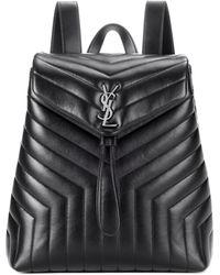 Saint Laurent - Medium Loulou Monogram Backpack - Lyst