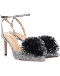 Aquazzura - Escarpins à pompon Powder Puff 85 - Lyst