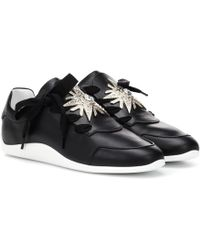 Roger Vivier - Sporty Viv Leather Sneakers - Lyst