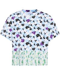 KENZO - Mixed Floral Cotton T-shirt - Lyst