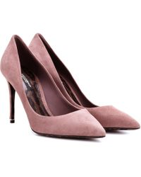 Dolce & Gabbana - Kate Suede Court Shoes - Lyst