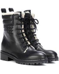 Bottega Veneta | Intrecciato Leather Ankle Boots | Lyst