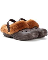 Christopher Kane - Mink Fur-trimmed Crocstm - Lyst