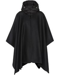 Moncler - Hooded Wool-blend Cape - Lyst