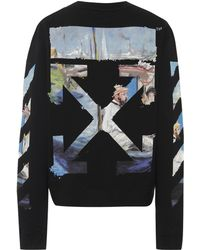 Off-White c/o Virgil Abloh - Diagonal Arrows Cotton Sweatshirt - Lyst