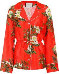 Gucci - Silk-blend Pyjama Shirt - Lyst