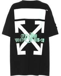 Off-White c/o Virgil Abloh T-Shirt Waterfall aus Baumwolle - Schwarz
