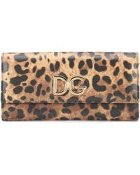 8bf571defa74 Dolce & Gabbana - Leopard-printed Leather Wallet - Lyst