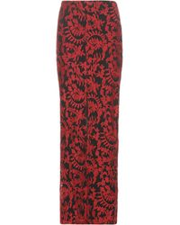 Alice + Olivia - Leena Embroidered Maxi Skirt - Lyst