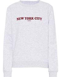 A.P.C. - N.y. C. Fleece Sweatshirt - Lyst
