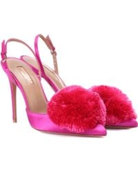 Aquazzura - Escarpins en satin Powder Puff 105 - Lyst