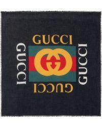 Gucci - Foulard imprimé en soie mélangée - Lyst