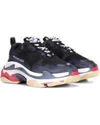 Balenciaga - Sneakers Triple S mit Leder - Lyst