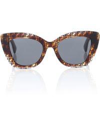 Fendi - Logo Cat-eye Sunglasses - Lyst