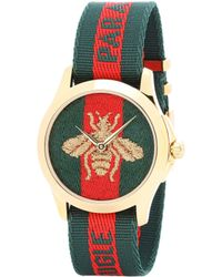 Gucci - Le Marché Des Merveilles 38mm Striped Fabric Watch - Lyst