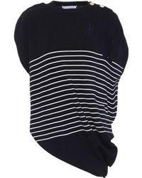 JW Anderson - Striped Wool Knit Top - Lyst