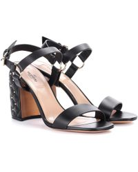 Valentino - Free Rockstud Spike Leather Sandals - Lyst