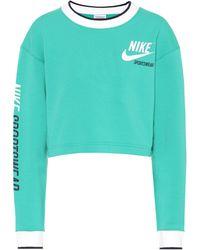 Nike - Reversible Printed Crop Top - Lyst