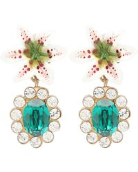 5819c9b75 Dolce & Gabbana Gemme Gold Plated Swarovski Crystal Cross Clip ...