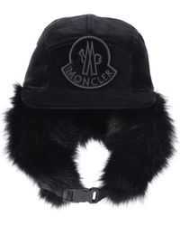 0ad8899ae19 Moncler - Fur-lined Cotton Trapper Hat - Lyst