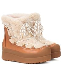 Tory Burch - Stivaletti Courtney 60 in shearling - Lyst
