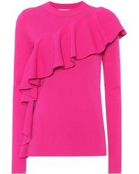 Diane von Furstenberg - Frilled Sweater - Lyst