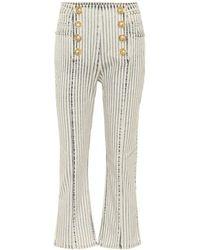 Balmain - Jeans flared a righe - Lyst