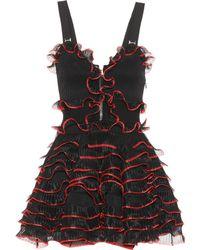 Alexander McQueen - Piped Ruffle Zip Dress - Lyst