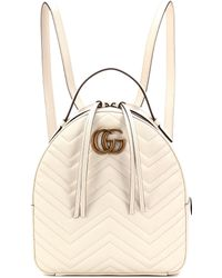 c03277801de5 Gucci Gg Marmont Matelassé Leather Backpack in Black - Lyst