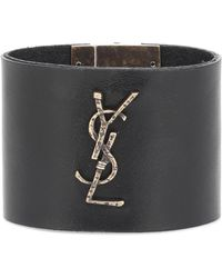 Saint Laurent - Opyum Monogram Leather Bracelet - Lyst