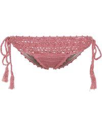 Anna Kosturova - Darling Crochet Cotton Bikini Bottoms - Lyst