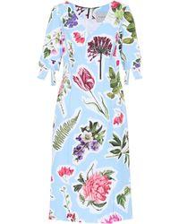 Carolina Herrera - Vestido en mezcla de algodón floral - Lyst
