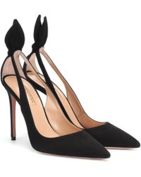 Aquazzura - Pumps Deneuve 105 aus Veloursleder - Lyst