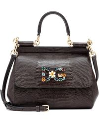Dolce & Gabbana - Miss Sicily Small Leather Shoulder Bag - Lyst
