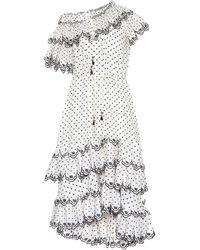 Zimmermann - Jaya Dotted Linen Dress - Lyst