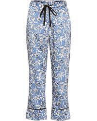 Victoria, Victoria Beckham - Pantalones de pijama estampados - Lyst